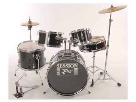 Black 5 Piece Junior Drum Kit